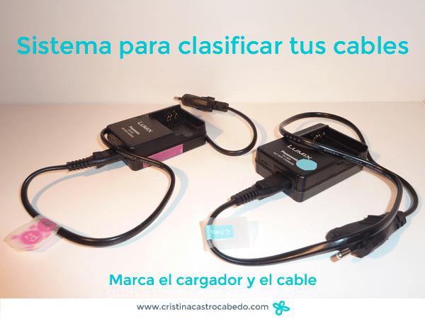 marca el cargador y el cable