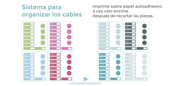 etiquetas para organizar cables