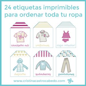 Descarga las 24 etiquetas imprimibles para ordenar toda tu ropa - Por fin vas a ordenar tu casa ...