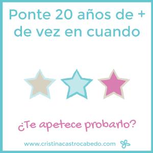 Prueba esta idea de Cristina Castro Cabedo para sentirte joven cuando lo necesites