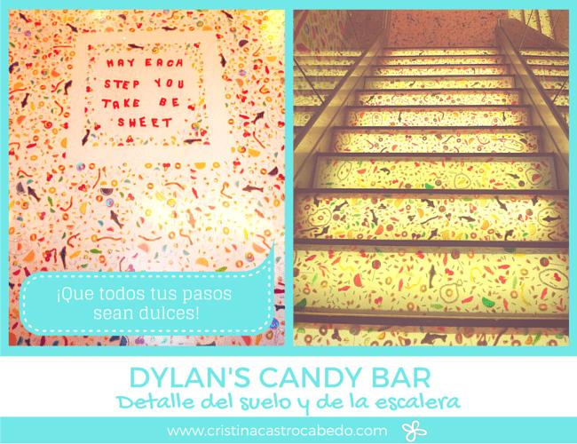 Todas las paredes e incluso el suelo y las escaleras están decoradas con chuches en la tienda Dylan's Candy Bar de New York.