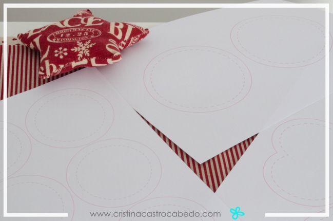 Imprime las plantillas para usarlas sobre la tela