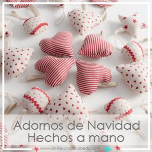 Descubre cómo puedes hacer tú misma estos preciosos adornos de Navidad, con ilustraciones paso a paso