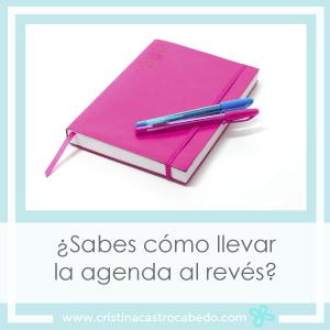 Llevar la agenda al revés y apuntar lo mejor de cada día