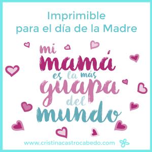 Cualquier día es bueno para felicitar a tu madre y darle las gracias por tantas y tantas cosas.