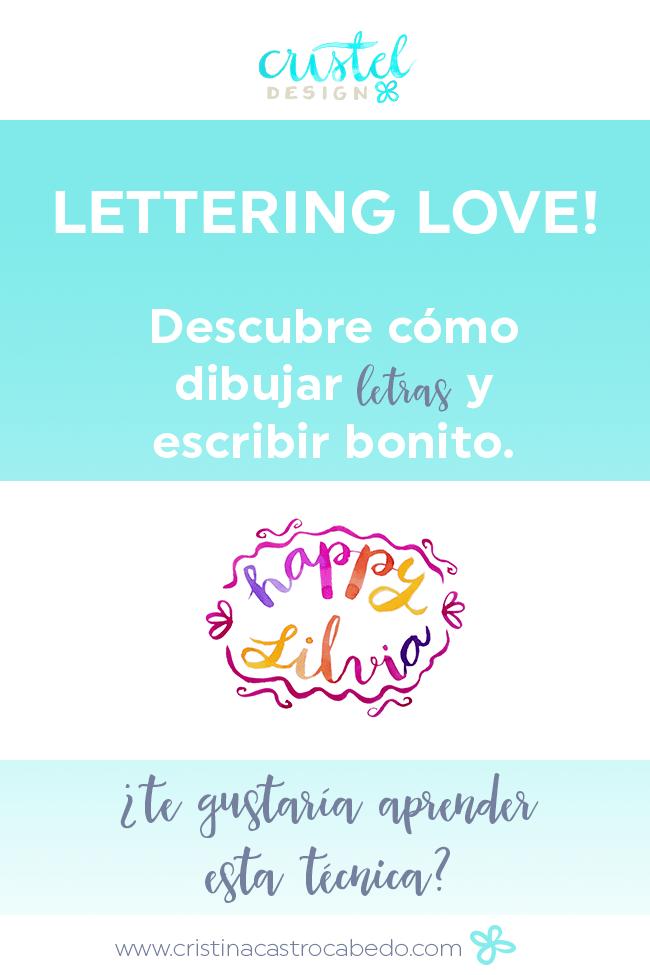 El Lettering es una técnica preciosa para celebrar tus momentos especiales.