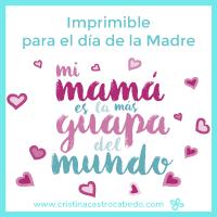 Tarjeta felicitación para el día de la madre.