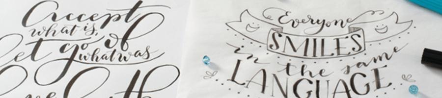 Para landing page de lettering