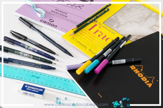 Materiales básicos para realizar un curso de lettering