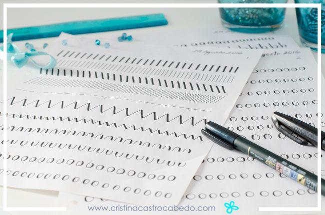 Es necesario aprender primero a realizar los trazos básicos del lettering o caligrafía moderna
