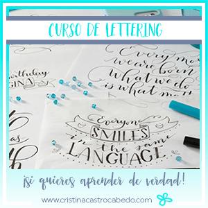 Si quieres aprender lettering de verdad, invierte en un buen curso.