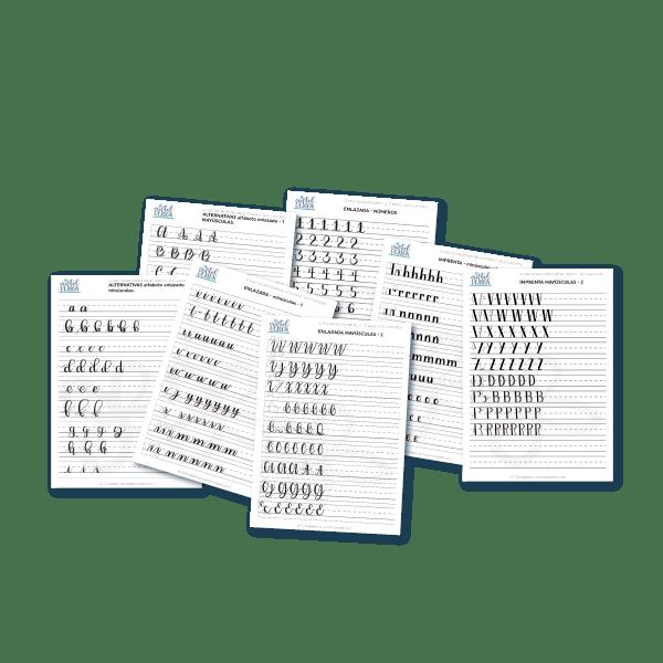 Plantillas para aprender Brush Lettering