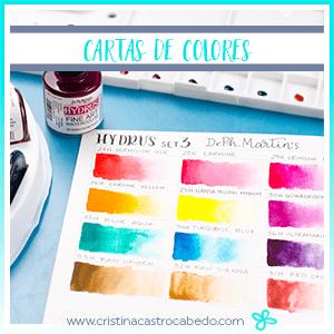 Crea una carta de colores para tus nuevas acuarelas