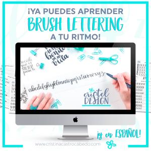 Aprende a tu ritmo Brush Lettering con este curso online