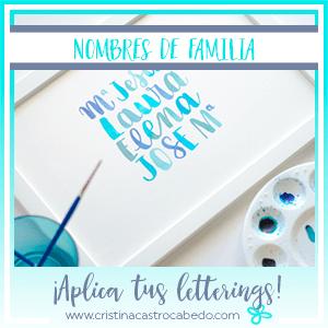 Aplica tus letterings y crea preciosos regalos personalizados con los nombres de tu familia