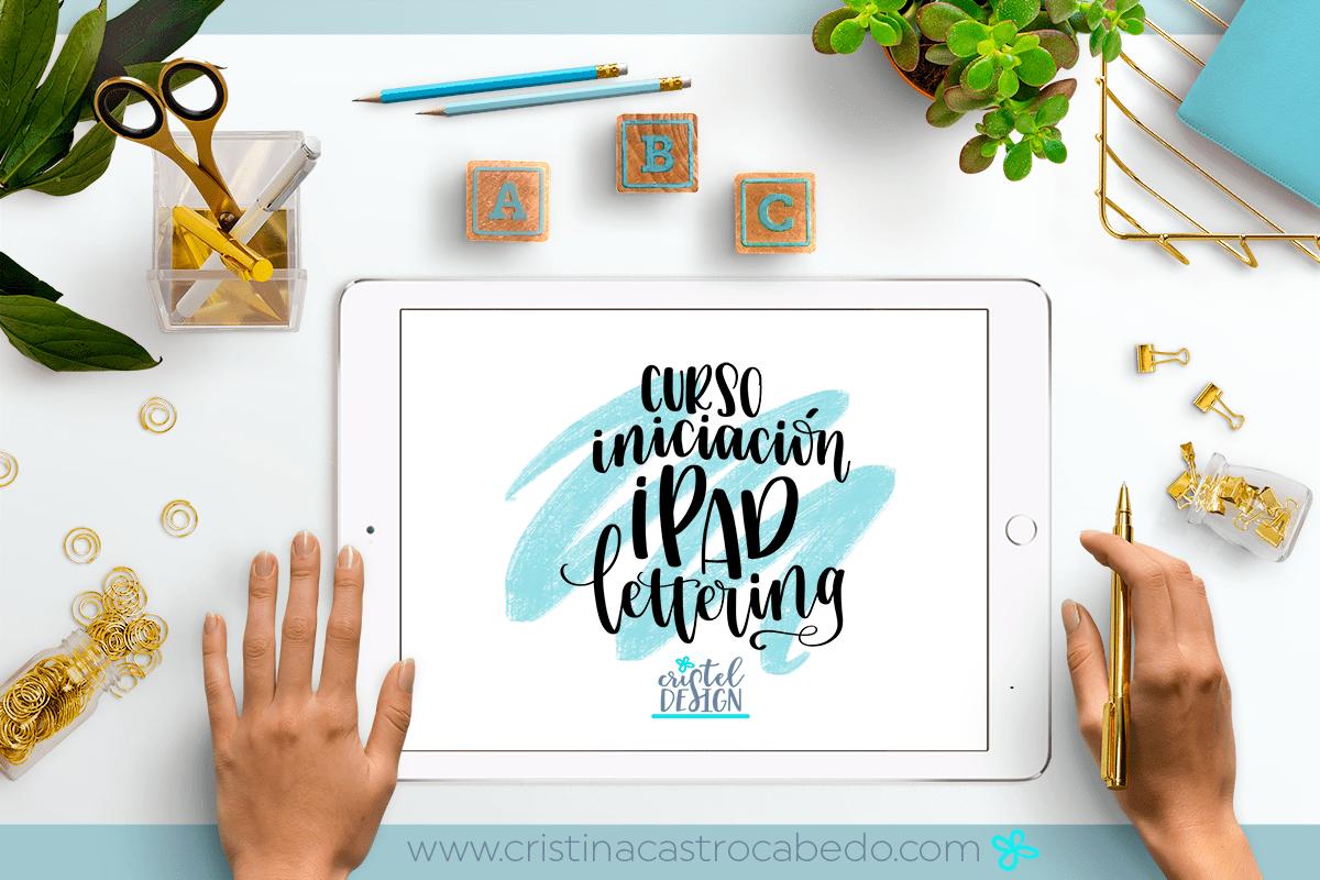 Aprende todo lo necesario para aprovechar tu ipad pro y practicar tus trazos de lettering. Curso gratuito para suscriptores que quieran aprender ipad lettering.