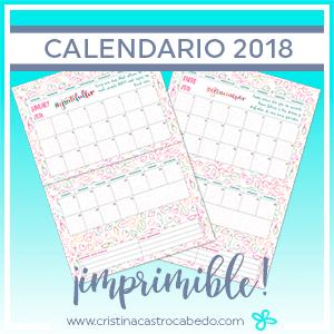 Nuevo calendario 2018 ¡para dar las gracias por todo!