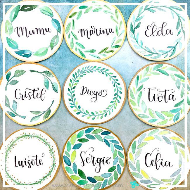 Lettering Sorprende a tus invitados con sus nombres en la mesa