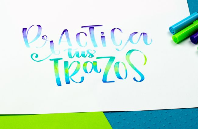 degradados y difuminados con tombow dual brush