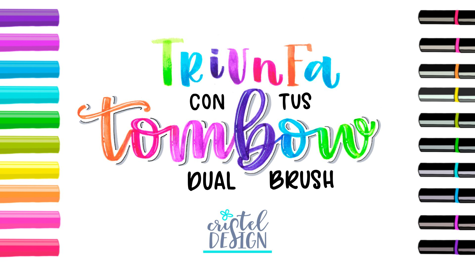 Curso online brush lettering con tombow dual brush