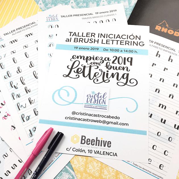 Plantillas especiales para aprender paso a paso brush lettering