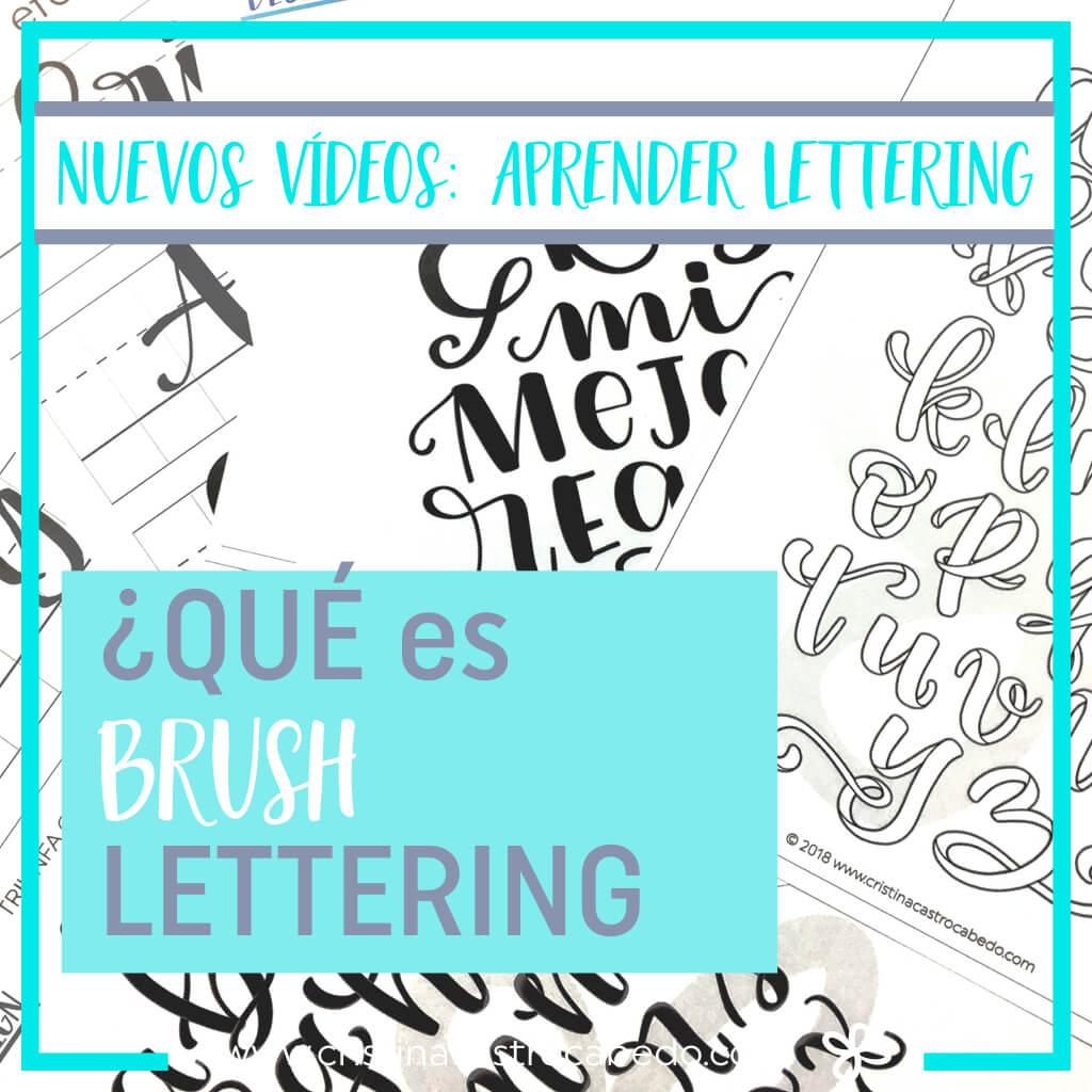 Nueva serie de vídeos ideal para principiantes en el aprendizaje del Brush Lettering - Cristel Design