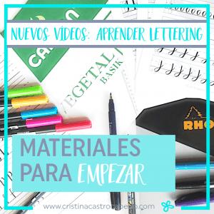 Para aprender Brush Lettering estos materiales te van a ayudar a empezar bien.