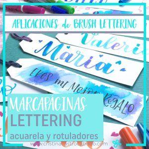 Marcapaginas personalizados con lettering. Tutorial de Cristel Design