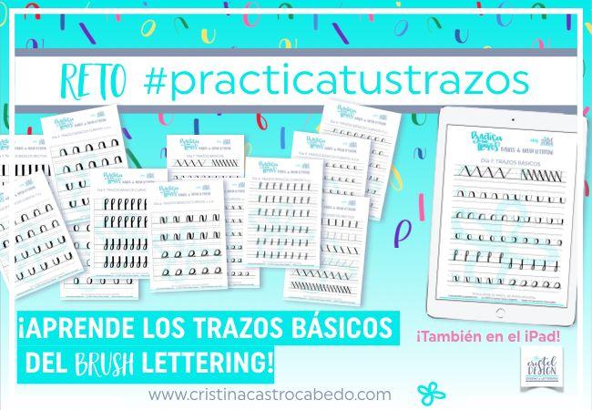 Lettering para principiantes - Aprende los trazos básicos del Brush Lettering con vídeos y plantillas