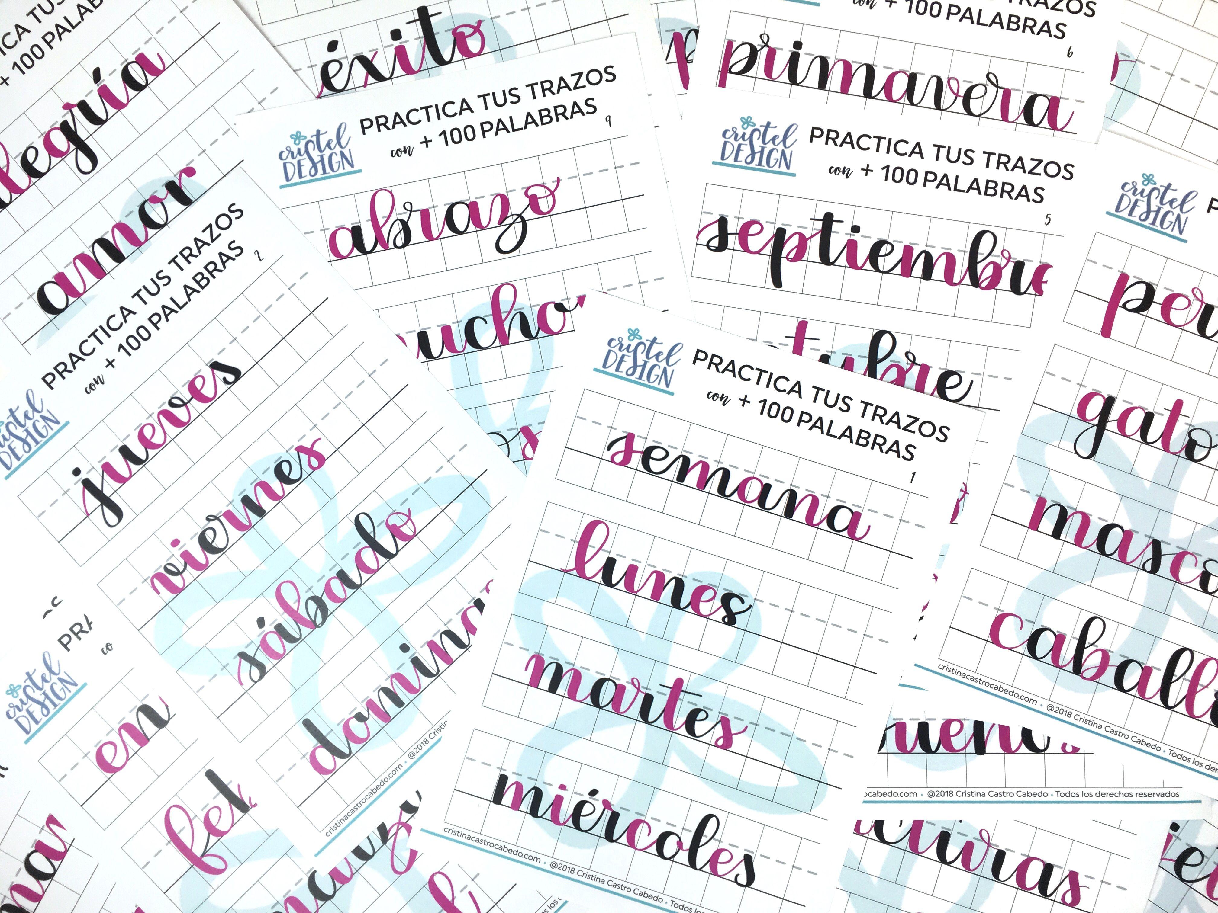 Plantillas de lettering para enlazar las letras