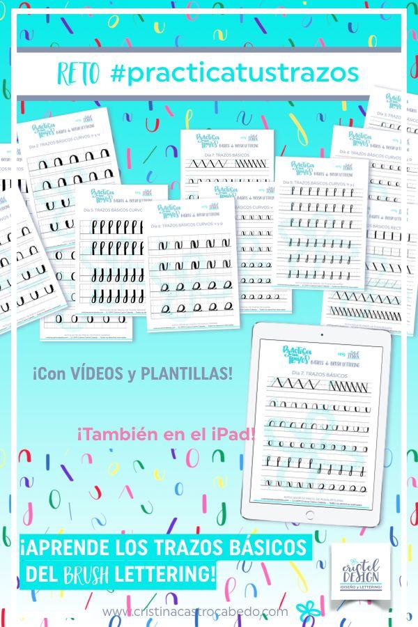 Aprende Brush Lettering con Plantillas y Vídeos