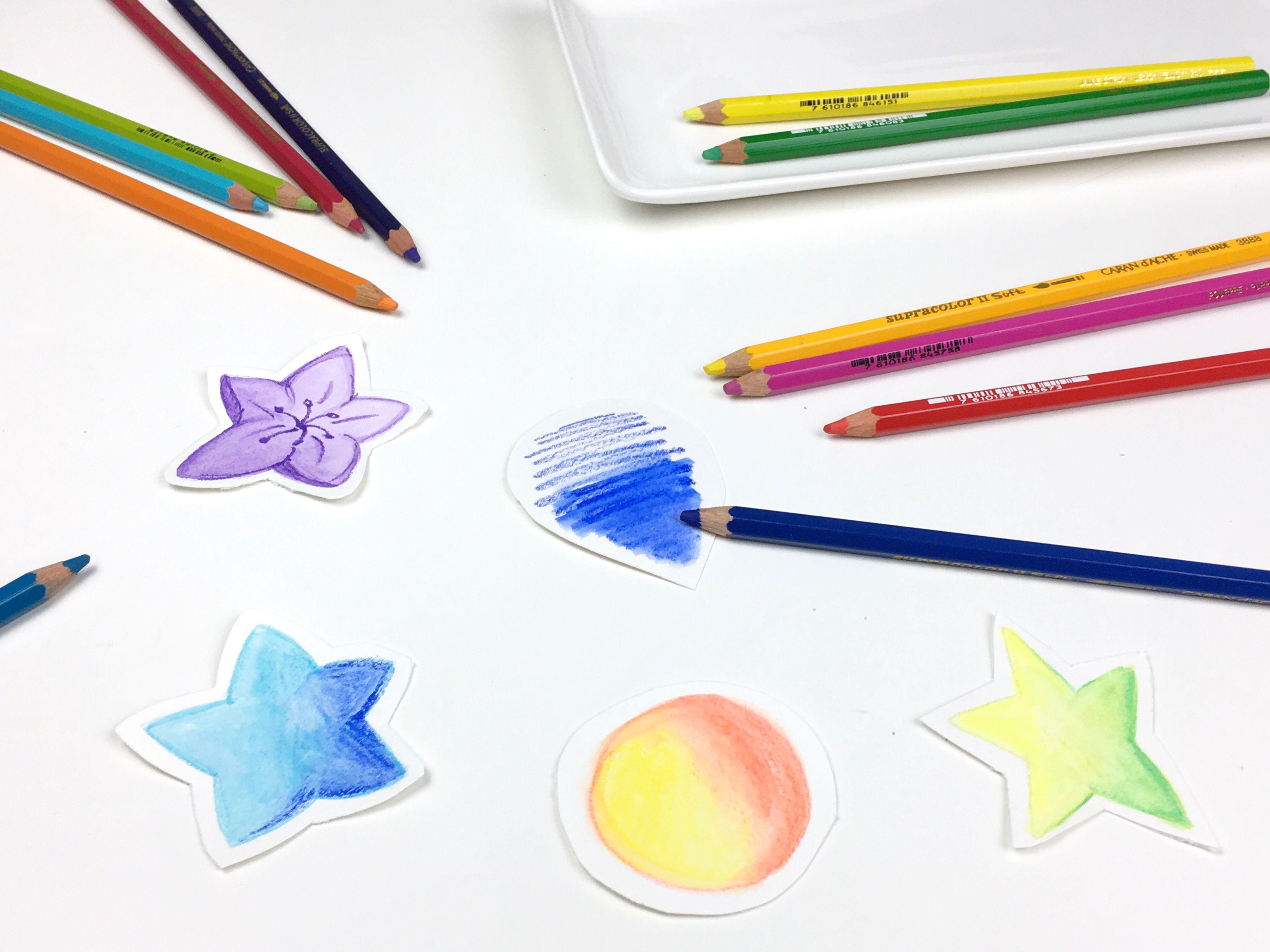 lápices de colores para activar con el agua