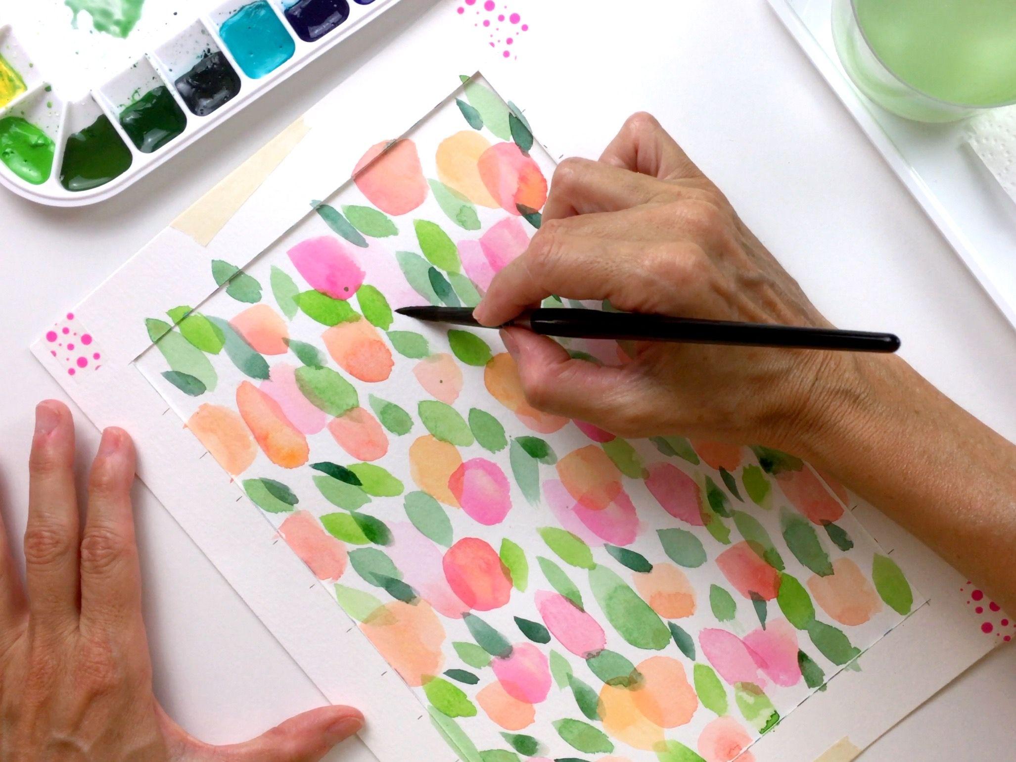 Flores de acuarela para principiantes paso a paso y con vídeo