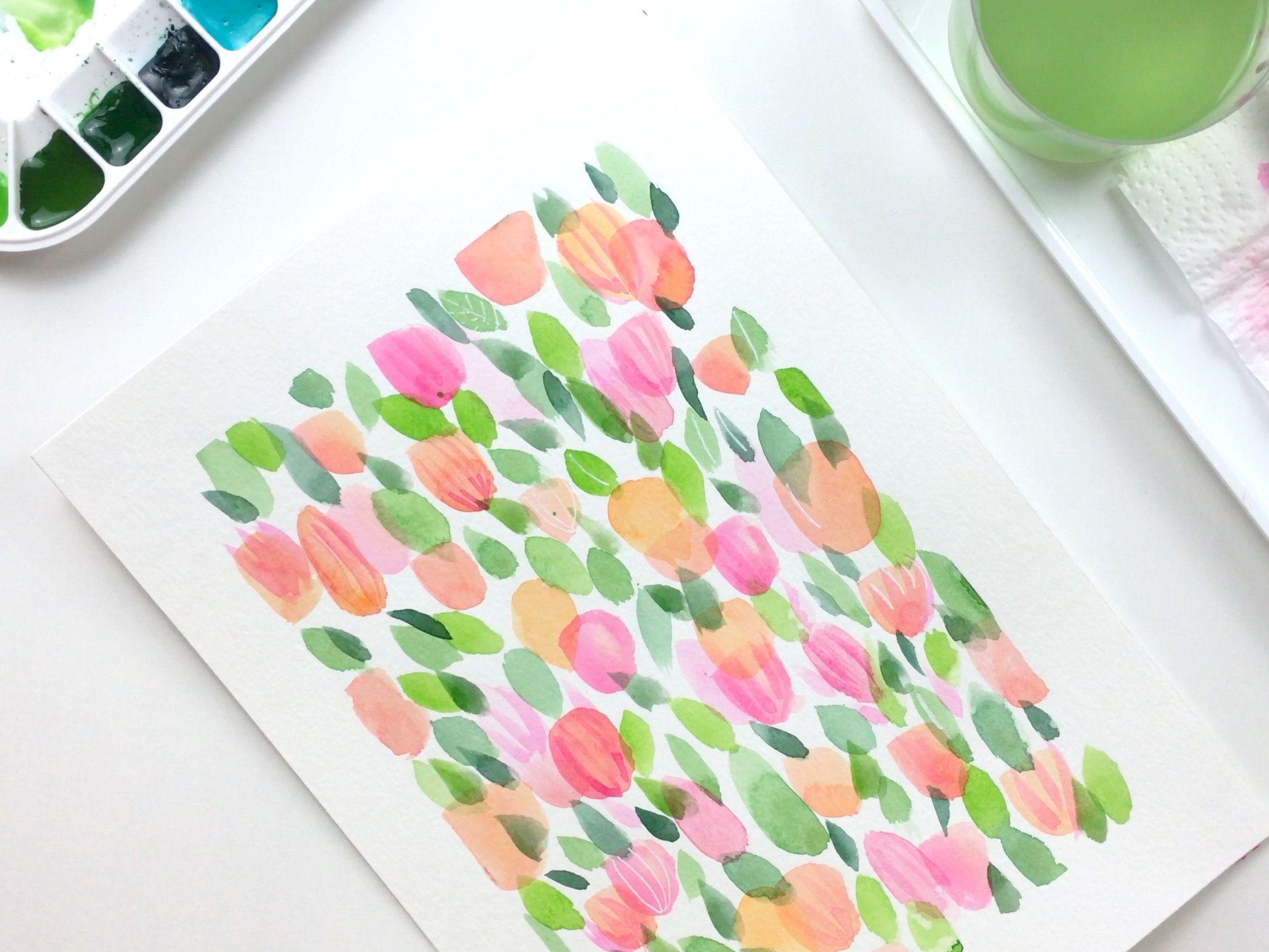 Lámina de flores para principiantes, fácil y paso a paso.