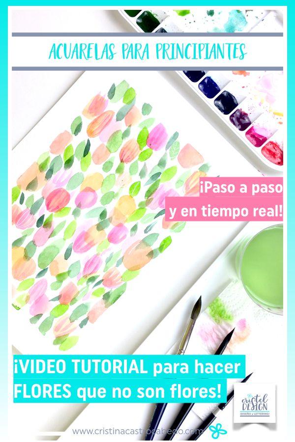 Tutorial para hacer una lámina de acuarela para principiantes con motivos florales muy sencillos.