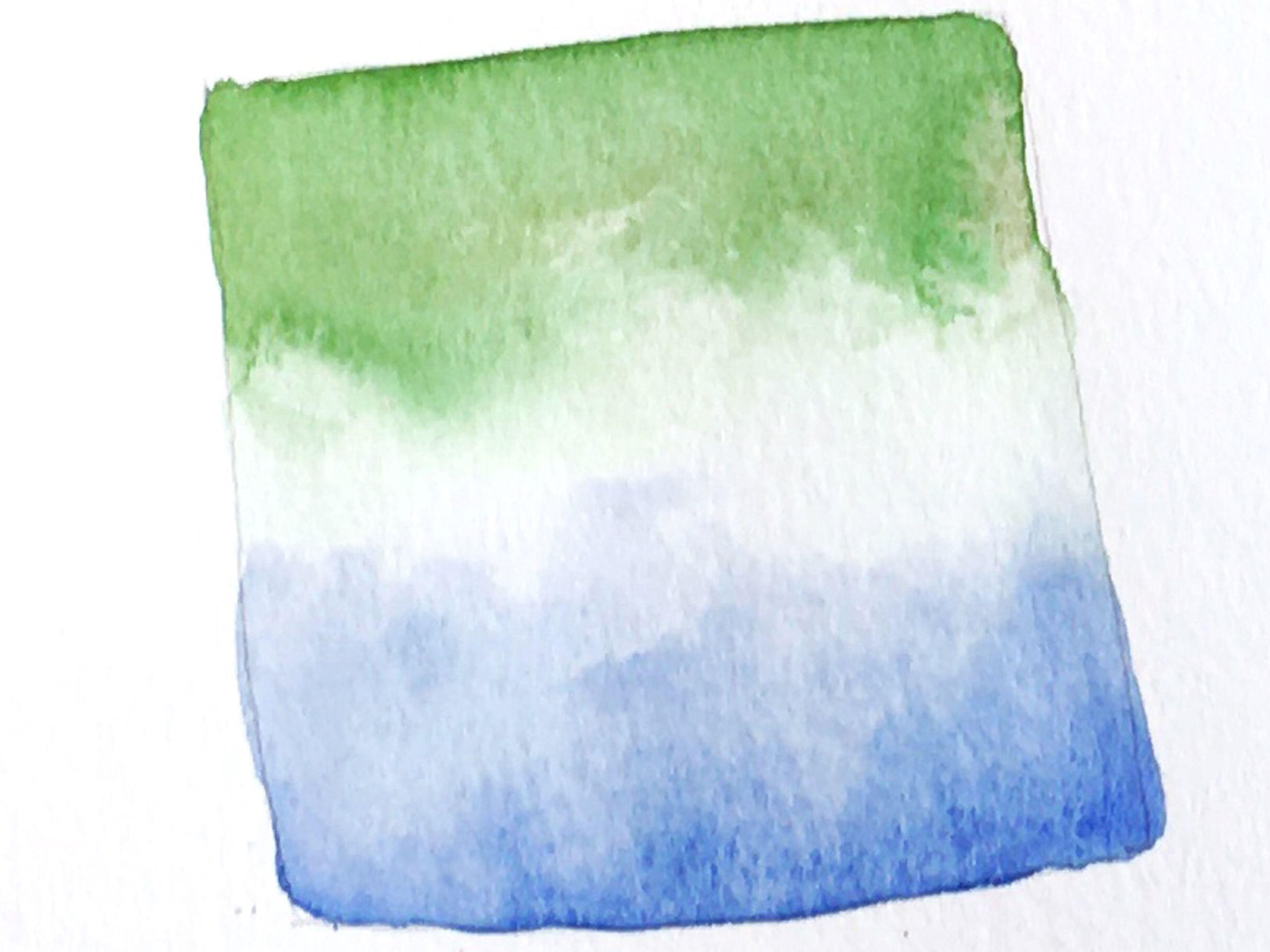 Degradado de dos colores de acuarela con el centro en blanco