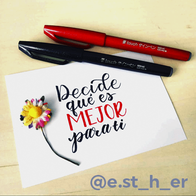 Esther curso brush lettering