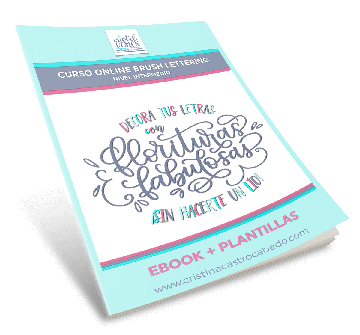 Plantillas y teoría para hacer florituras de lettering