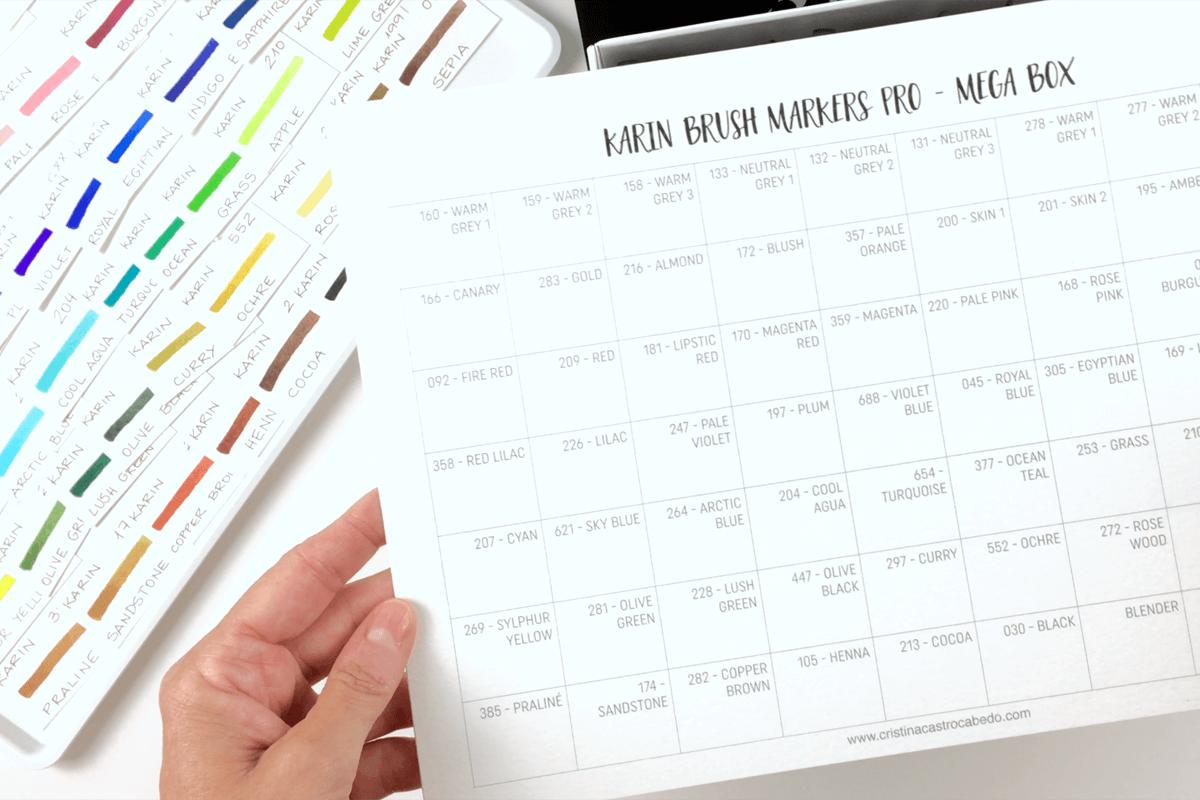 Descarga la plantilla gratuita de los rotuladores karin markers