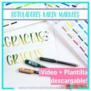 Rotuladores karin markers para brush lettering