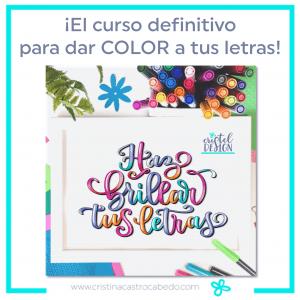 curso lettering para dar color a tus letras