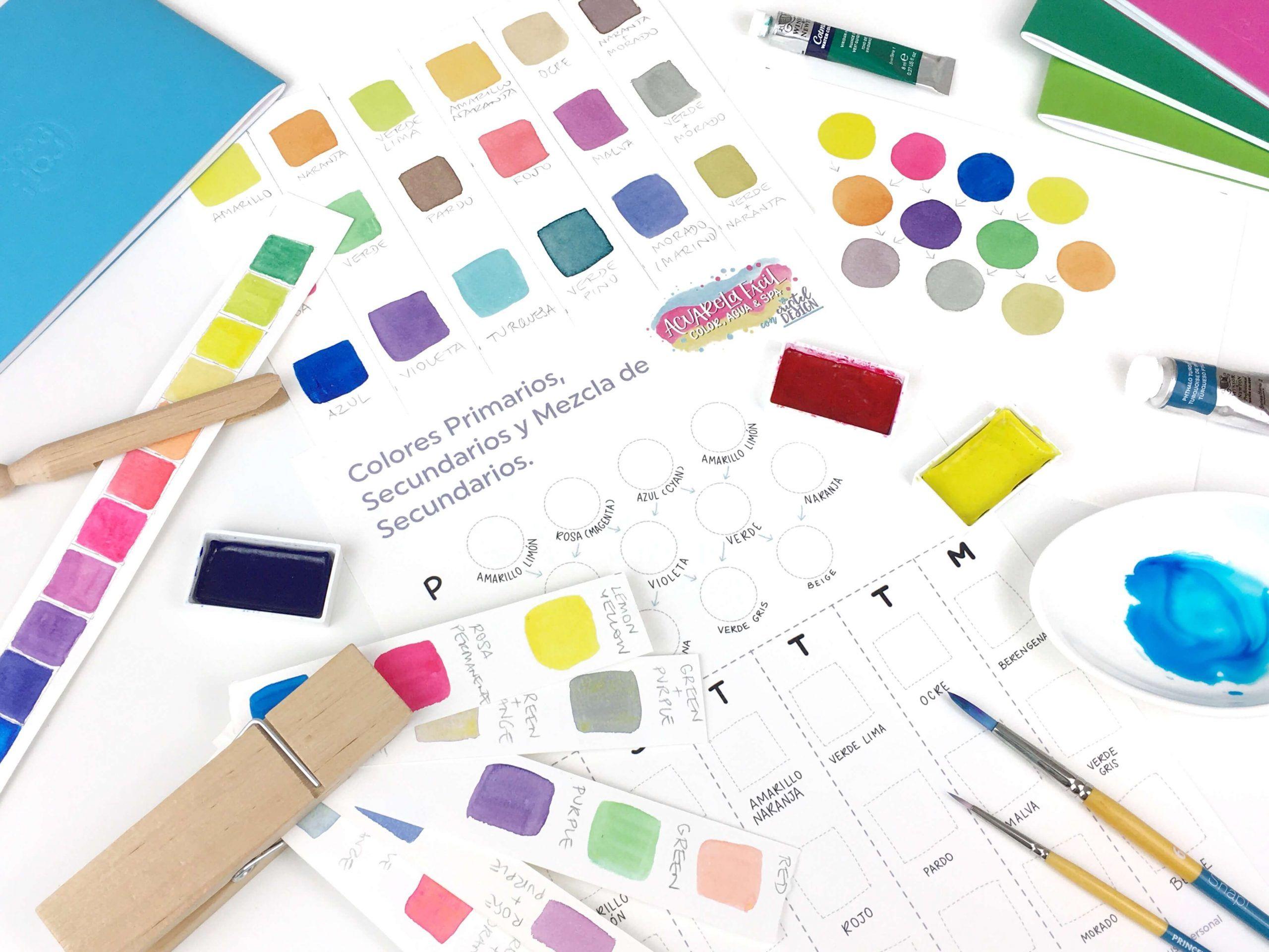 colores primarios para aprender a hacer tus mezclas