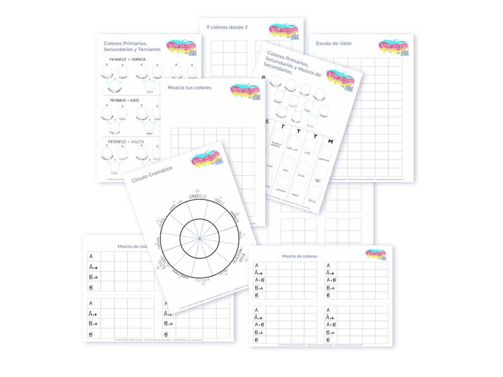 Plantillas para descargar e imprimir y practicar tus ejercicios de color.