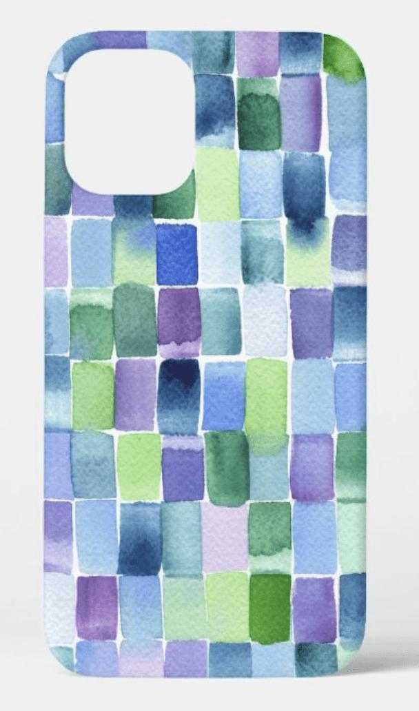 funda-iphone-12-max-verde-azul-morado-acuarela-cristel-design-zazzle
